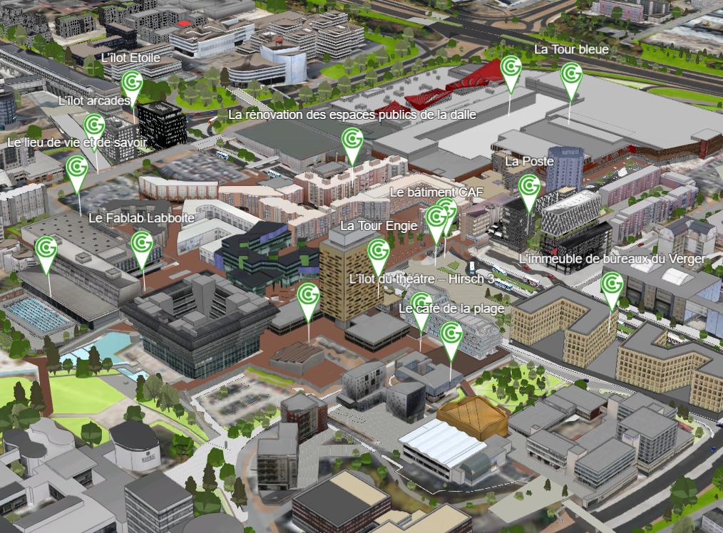 capture d'écran de la maquette 3D du Grand Centre