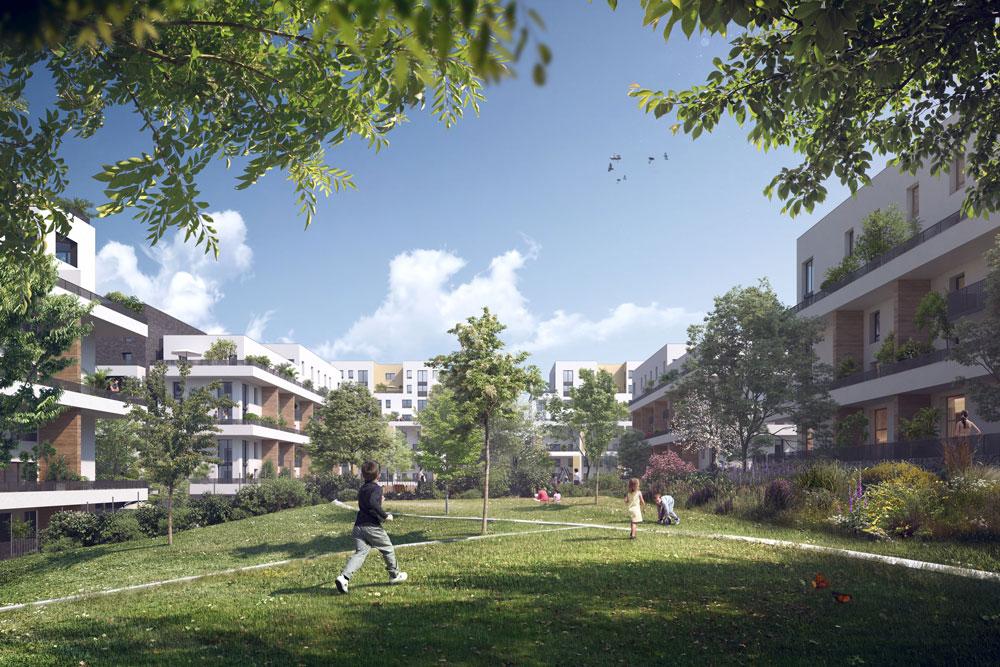 Perspective Marjoberts logements Nexity © Kreaction