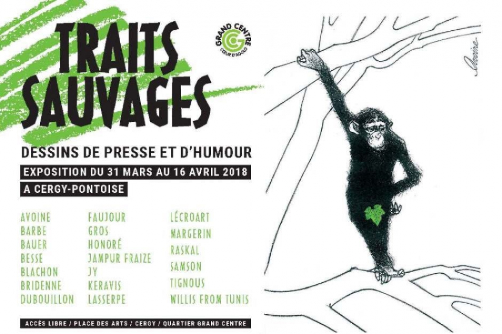 Affiche de l'exposition Traits sauvages